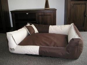 Hundebettenmanufaktur Hundebett Toppa beige braun